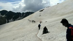 Snow Walk at Peak