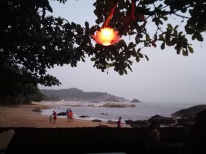 Om Beach, Gokarna Evening View