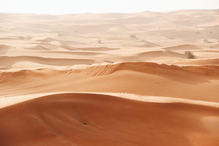brown desert field Dubai