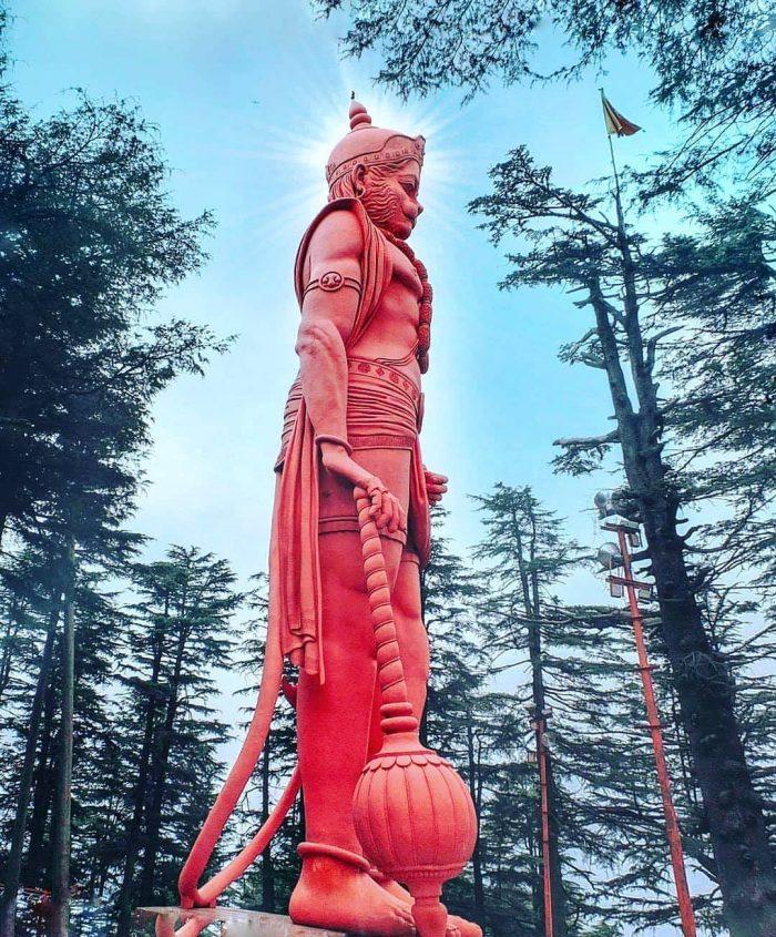108 Feet Lord Hanuman Statue, Jakhoo Temple, Himachal Pradesh